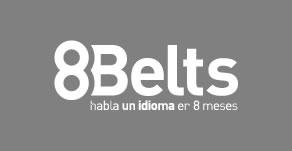 8Belts logo blanco y negro